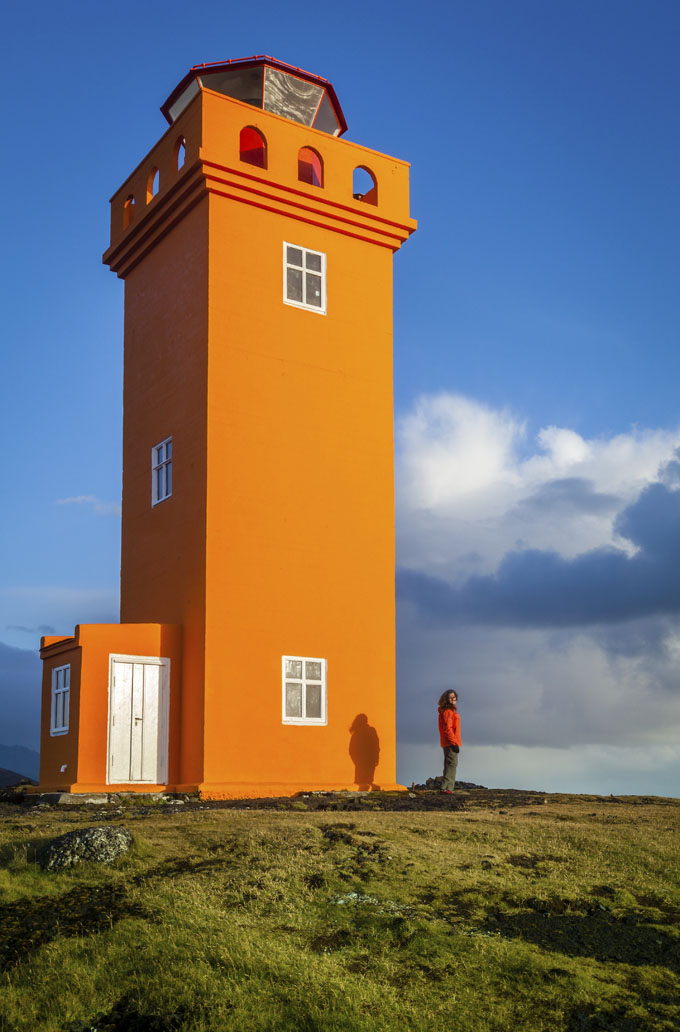 iceland lighthouse at svortuloft snaefellsnes 507312975