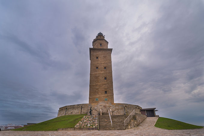 spain a coruna galicia tower of hercules lighthouse 538354109