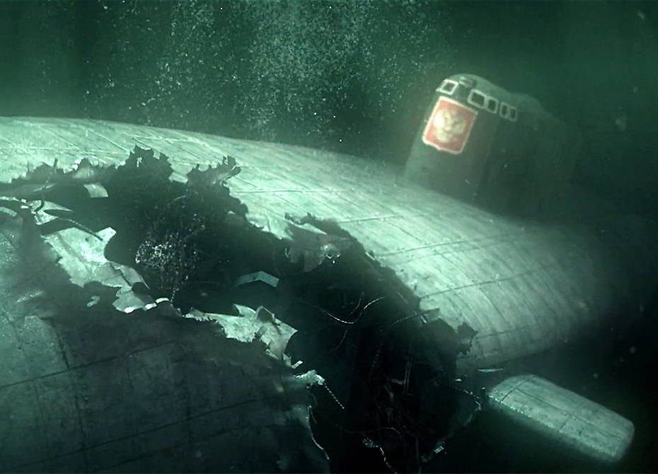 kursk underwater hole photo